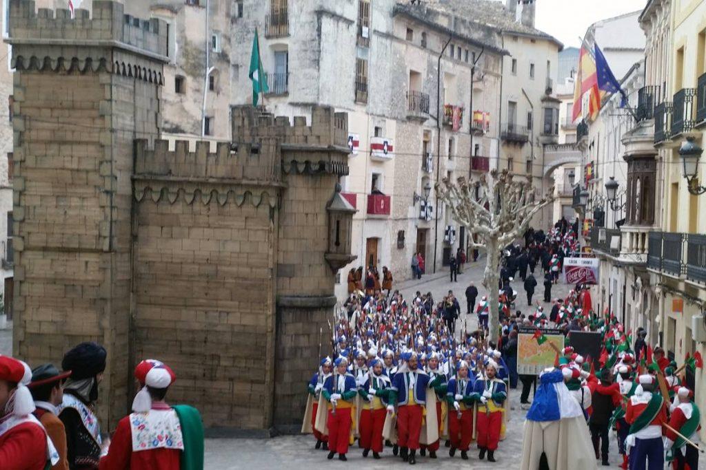 Fiestas de Moros y cristianos en Bocairent (Valencia).