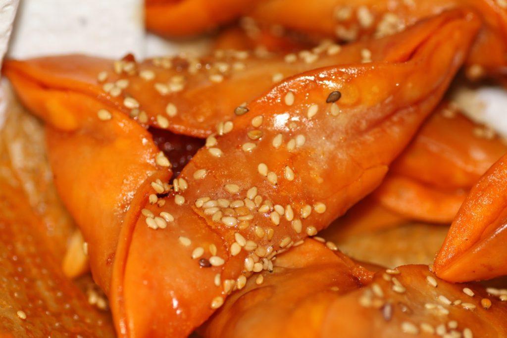 Recetas de aperitivos. Empanadillas de sobrasada y miel