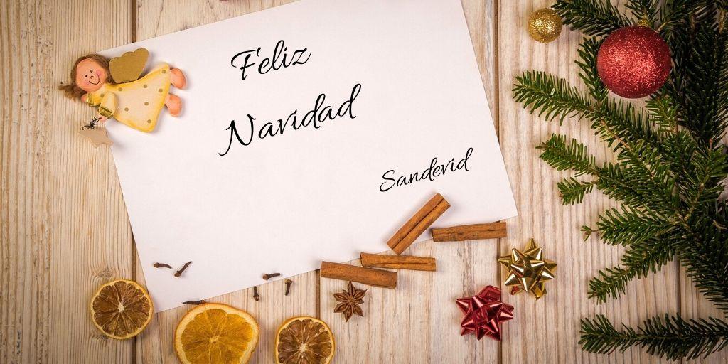 Felicitación navideña de Sandevid.