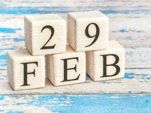 Calendario año bisiesto 2020: 29 de febrero