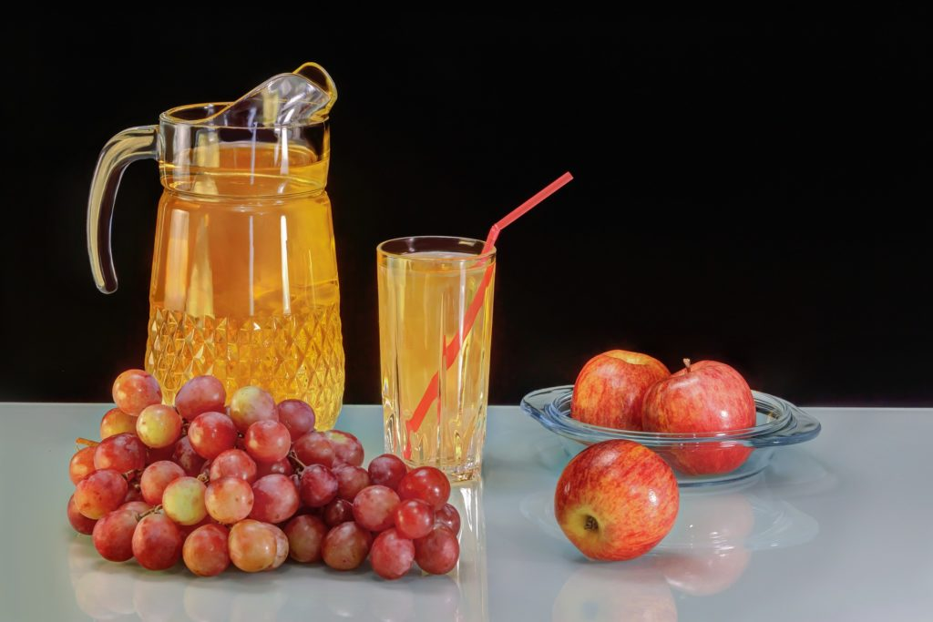 Mosto y uvas