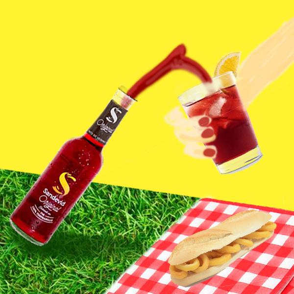 Sandevid vibes - bocetaje a color picnic
